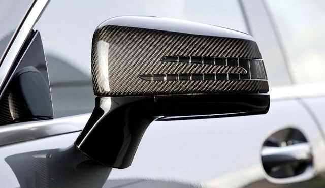 RevoZport Carbon Mirror Cover for C63 (Face-lifted)