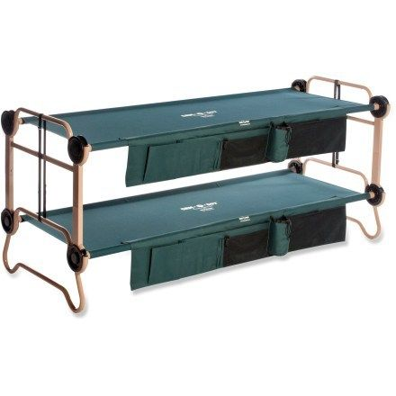 Bring more friends on your next road trip! Bunk beds are a great way to make the most of space in your tent. The large-size Disc-O-Bed Cam-O-Bunk cots stack to sleep two. #REIcampusguide