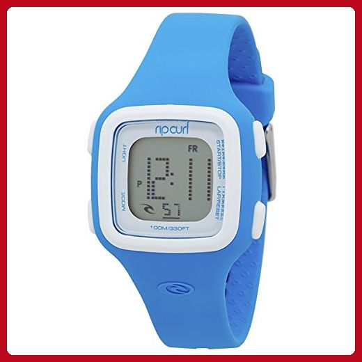 Rip Curl Women's 'Candy Digital' Quartz Plastic and Silicone Sport Watch, Color:Blue (Model: A2466G-ABL) - All about women (*Amazon Partner-Link)