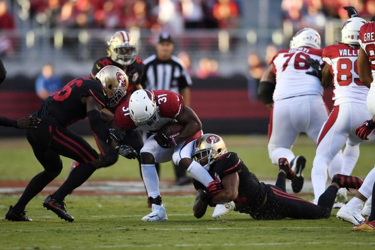 Thursday Night Football: Cardinals vs. 49ers  -  October 6, 2016:  33 - 21, Cardinals  -    David Johnson #31 of the Arizona Cardinals rushes with the ball against the San Francisco 49ers during their NFL game at Levi's Stadium on Oct. 6, 2016 in Santa Clara, California.