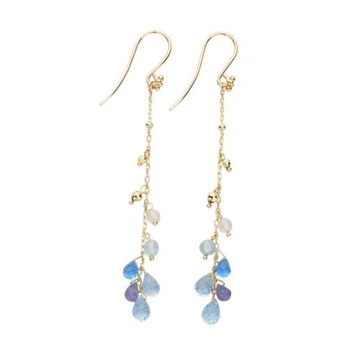 Blue Topaz & Tanzanite Earrings