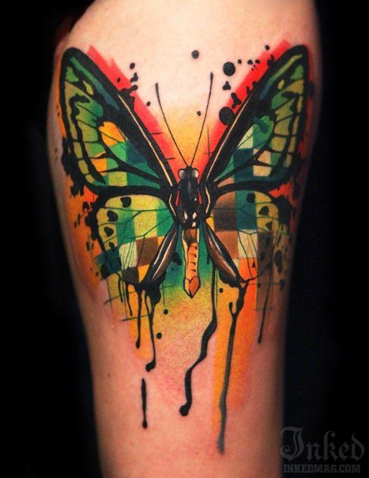 Ivana Belakova #InkedMagazine #butterflies #butterfly #tattoo #tattoos #Inked #ink #art #original #unique