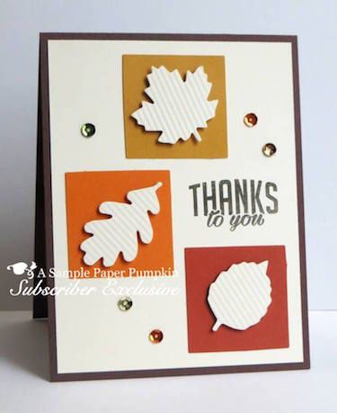 Click here to see lots of project ideas created with the October 2016 Season of Gratitude Paper Pumpkin kit… #stampyourartout - Stampin' Up!® - Stamp Your Art Out! www.stampyourartout.com