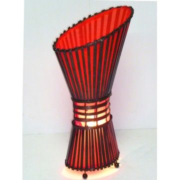 Rattan lamp with Slope Top 60cm Red
