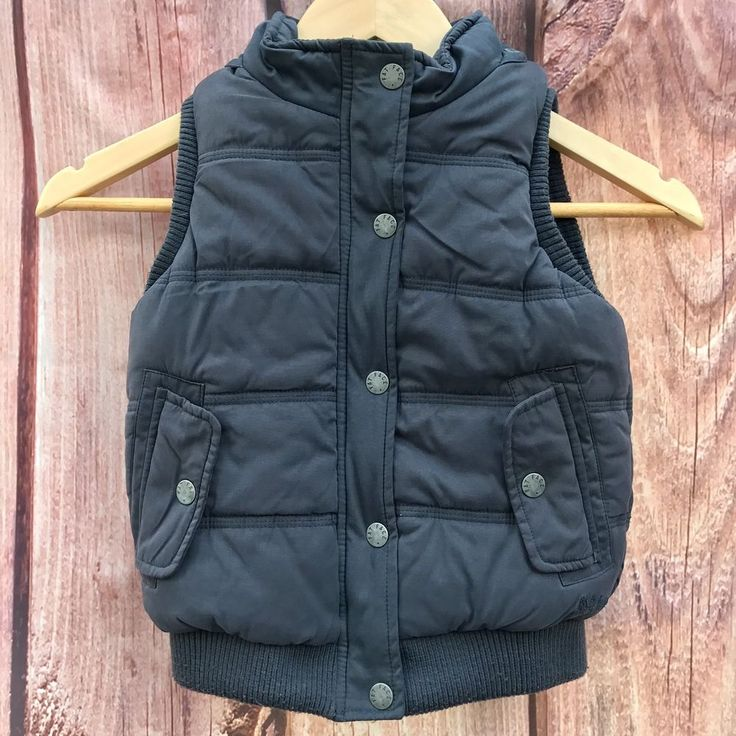 vintage boys padded waistcoat gilet Jacket Fat Face climb high dig ski 4-5 years