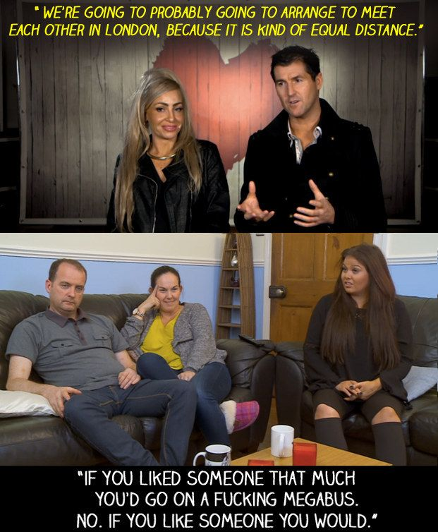 """When the daters said that they were going keep dating, but in London because it is """"equal distance""""… 