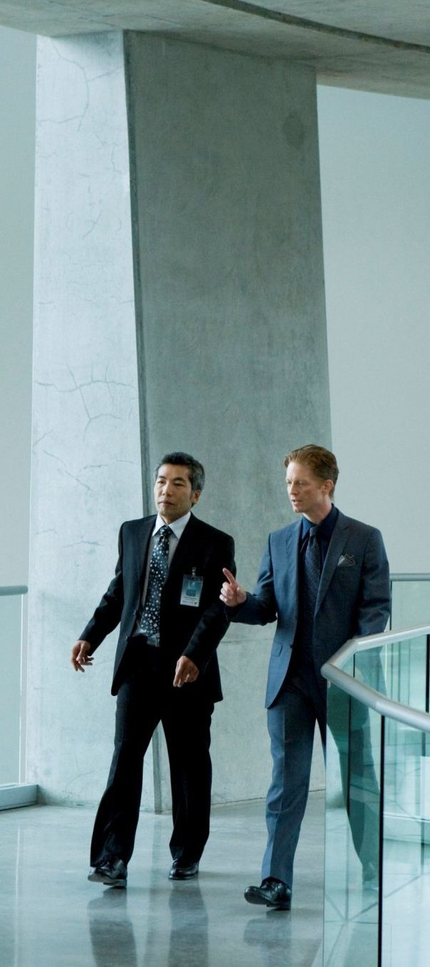 Hiro Kanagawa as Cyrus with Daniel in Caprica