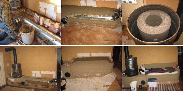 mass rocket heater | Making a rocket stove mass heater.