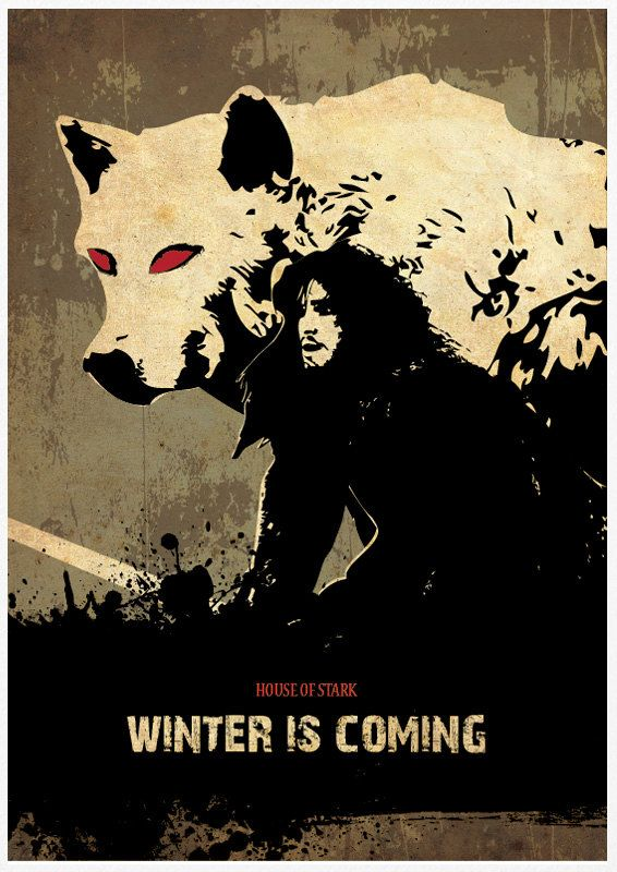 Games of Thrones HOUSE OF STARK Winter is by Posterinspired