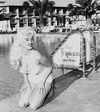 Vintage Las Vegas:  In February 1958, the Tropicana Casino  launched Jayne Mansfield's striptease revue.