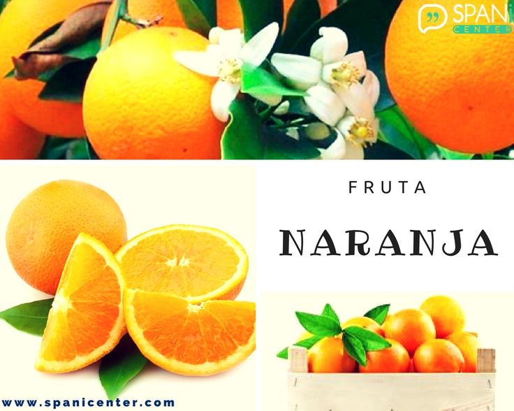 #Naranja #Fruit #Fruta #LearnSpanish learn more in www.spanicenter.com