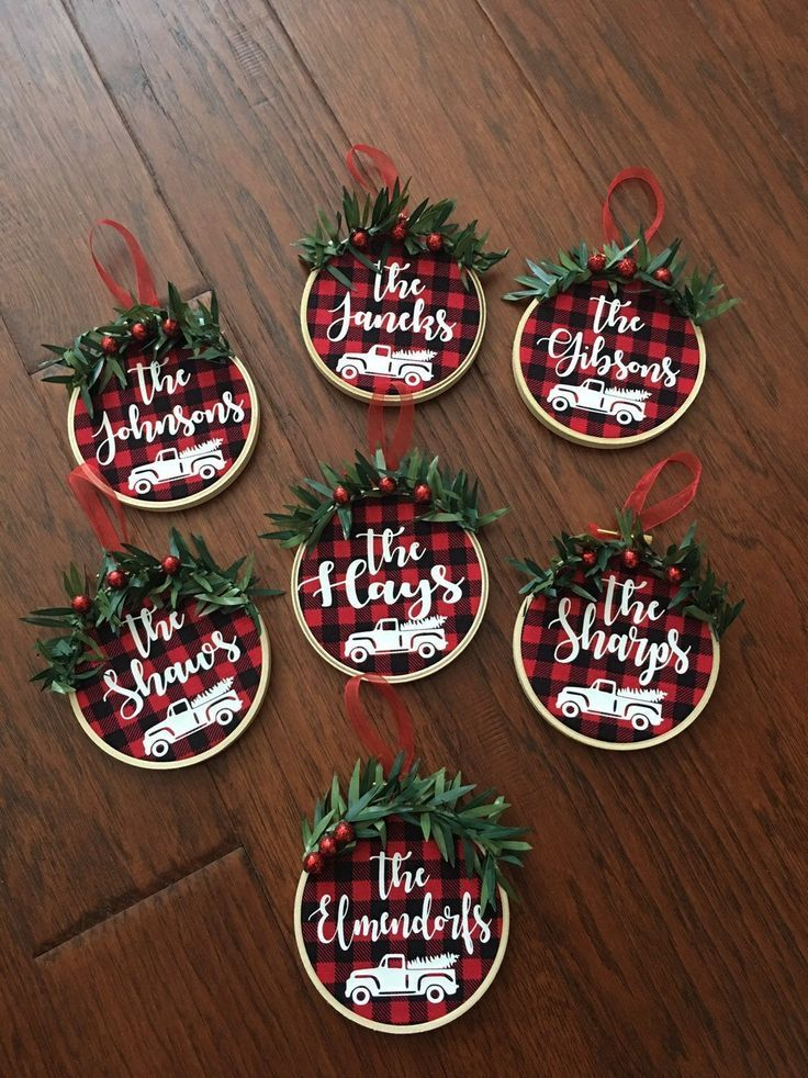 Fantastic Pictures Personalized Ornaments Christmas Tips Christmas Ornaments Plaid Christmas Decor Homemade Christmas