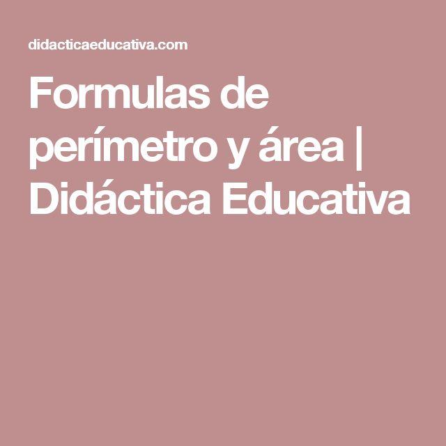 Formulas de perímetro y área | Didáctica Educativa