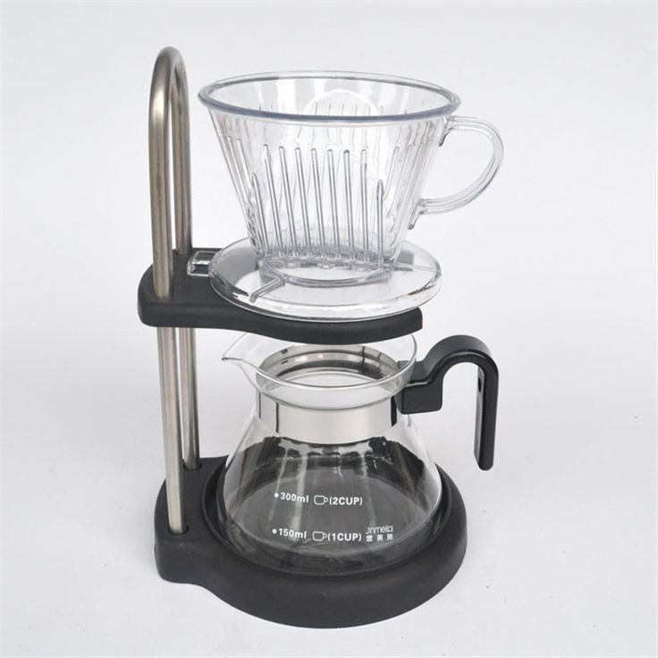 Drip coffee maker Set / reusable filter cup filter funnel glass a coffee maker brewing tool bracket height can be adjusted