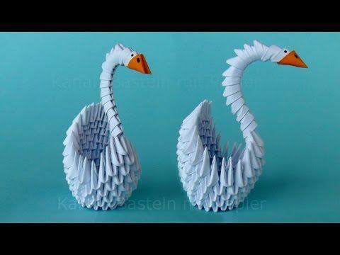 Origami Cisne 3d: Cómo hacer un cisne de papel - Papiroflexia - Origami ...