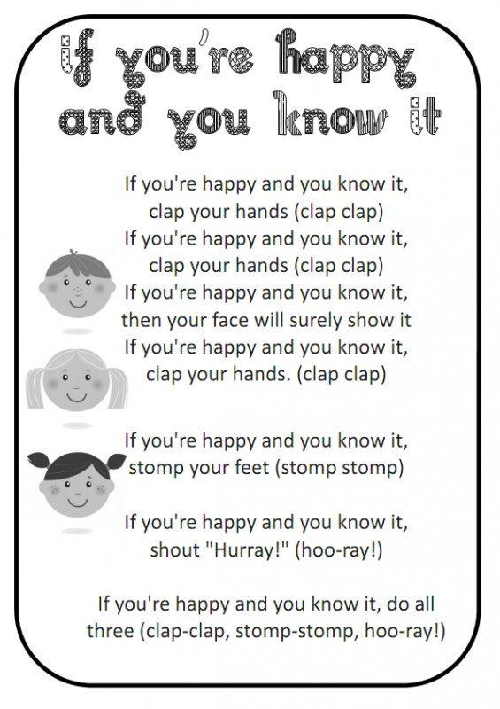 If You Re Happy And You Know It Preschool Songs Kindergarten Songs Nursery Rhymes Songs