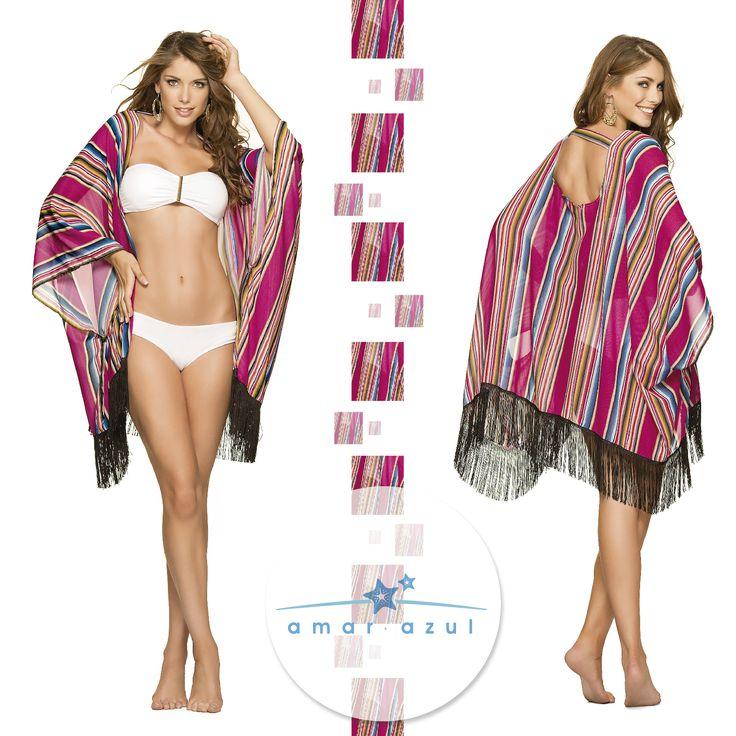 Versátil y cómoda hecha en 100% Polyester.  #Cáftan #Beachwear #amarazulswimwear