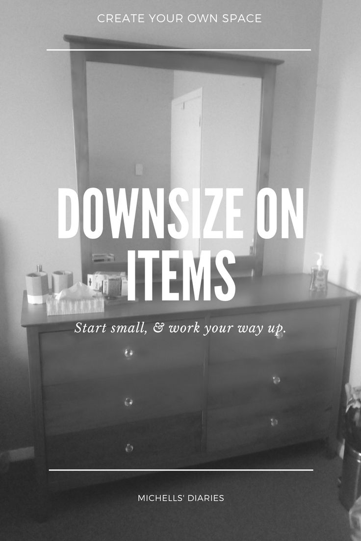 Downsize items, organising, minimalism