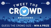 Great idea here by the MCG to 'Tweet the Crowd' and guess the figures each night. Good way to engage with fans at the game