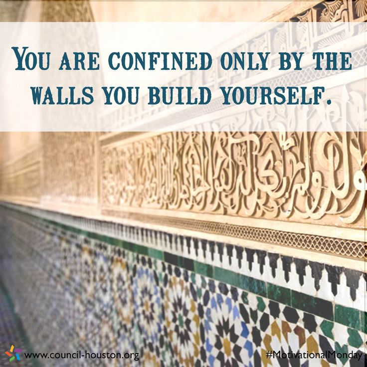 """You are confined only by the walls you build yourself."" #MotivationalMonday #Inspiration #Quotes"