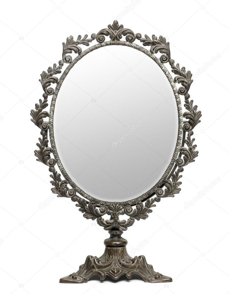 White Background, How To Antique Mirror From Front
