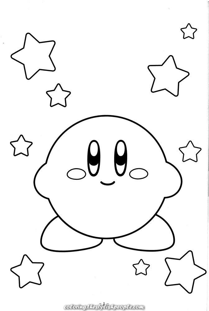 Magical Free Printable Kirby Coloring Pages For Youths Coloring