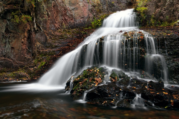 waterfall located in Kadunce River State Park (Grand Marais, MN), #MSPGetaway