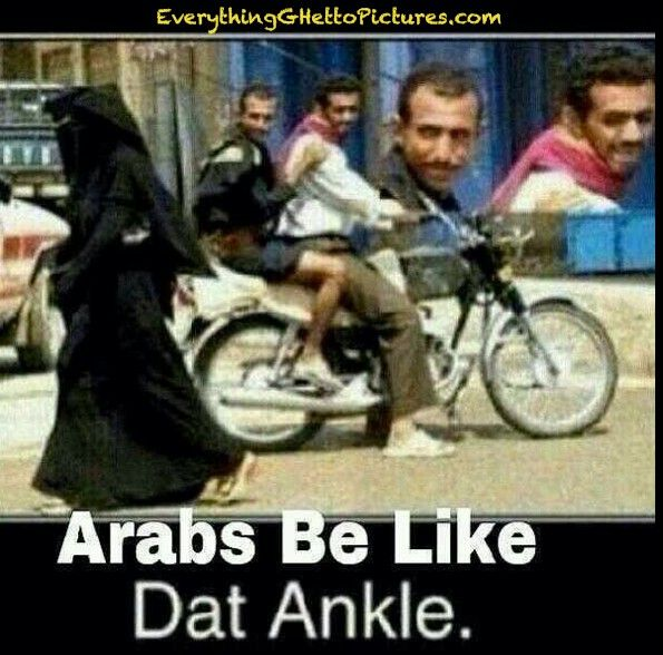 not necessarily Arabs.  Not all Arabs are Muslim. but still, really funny