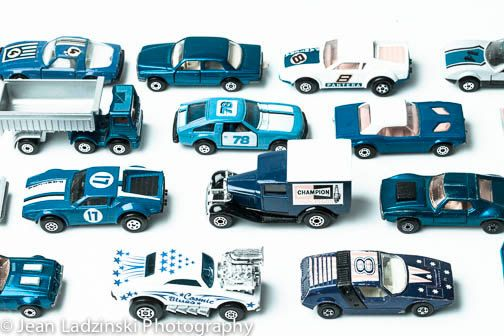 11x14 Blue Cars Print Blue Vintage Toy Car Little Boys Room
