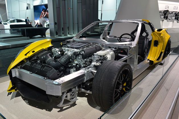 2015 Corvette Z06 cutaway allows us to peer beneath the skin