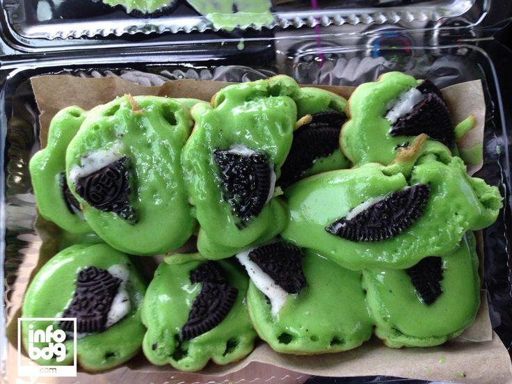 Kue Cubit Green Tea Oreo Jl. Cisangkuy dpn Loop Station #infoBDGkuliner