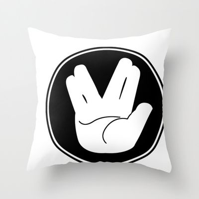 Star Trek Live Long and Prosper Hand sign Throw Pillow by Christophajay | Society6