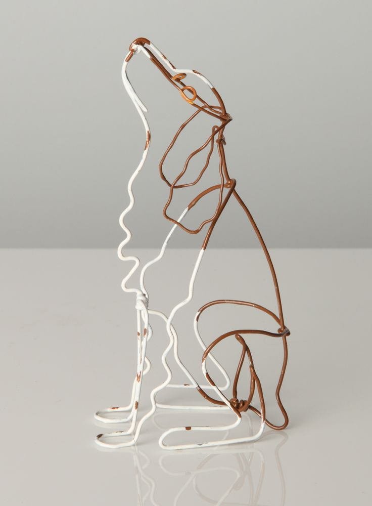 Bridget baker border collie drut pinterest draht for Dog wire art