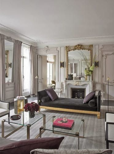 Habitually Chic®: Parisian Chic at its Finest dream on that I could afford this Hausmannian flat in Paris