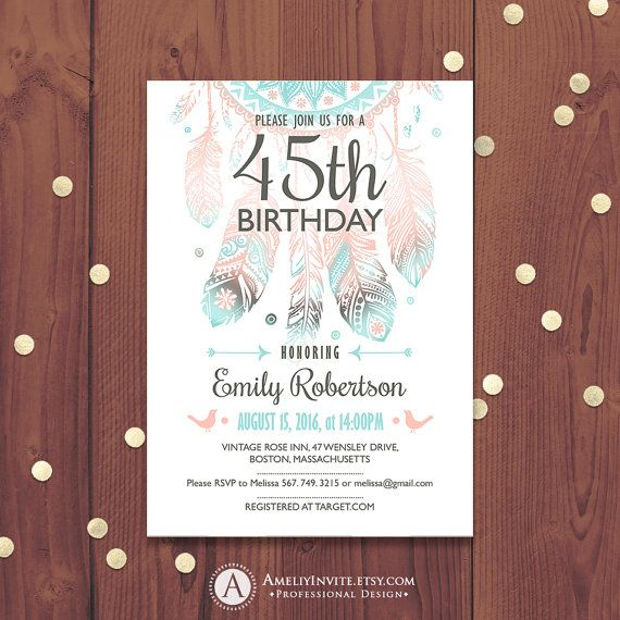 23 best Birthday images on Pinterest Birthday invitations adult - professional invitation template
