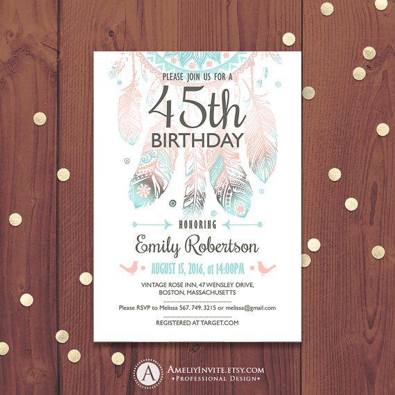 Best 25+ Birthday Invitations Adult Ideas On Pinterest