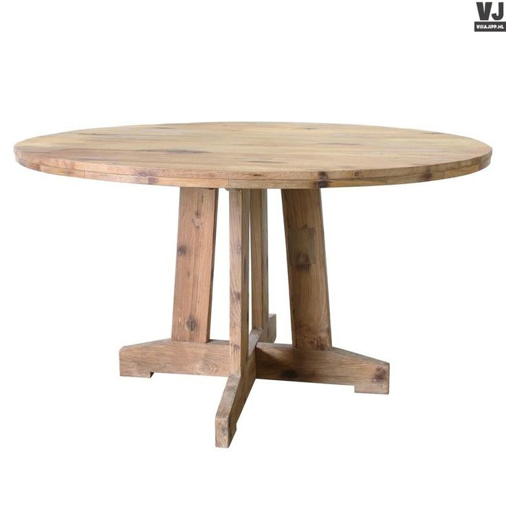 HK living online webwinkel, gratis verzenden HK-living tafel rond teak hout 140x140x75cm MTA2002 by Villa Jipp