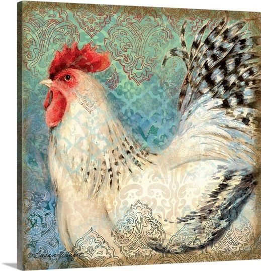 Bohemian Rooster on Blue