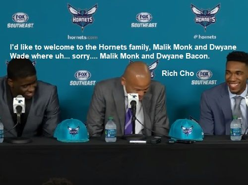 Rich Cho Introduces New Hornets Family Member Dwayne