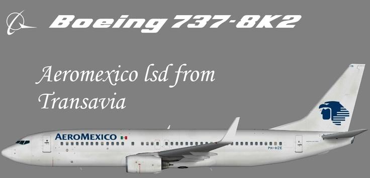 Aeromexico Boeing 737-800 Winglets - leased from Transavia