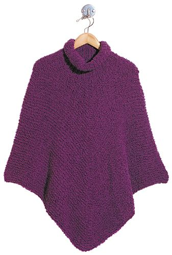 Berroco® Free Pattern | Paige This simple poncho looks great in Lion Brand Homespun!