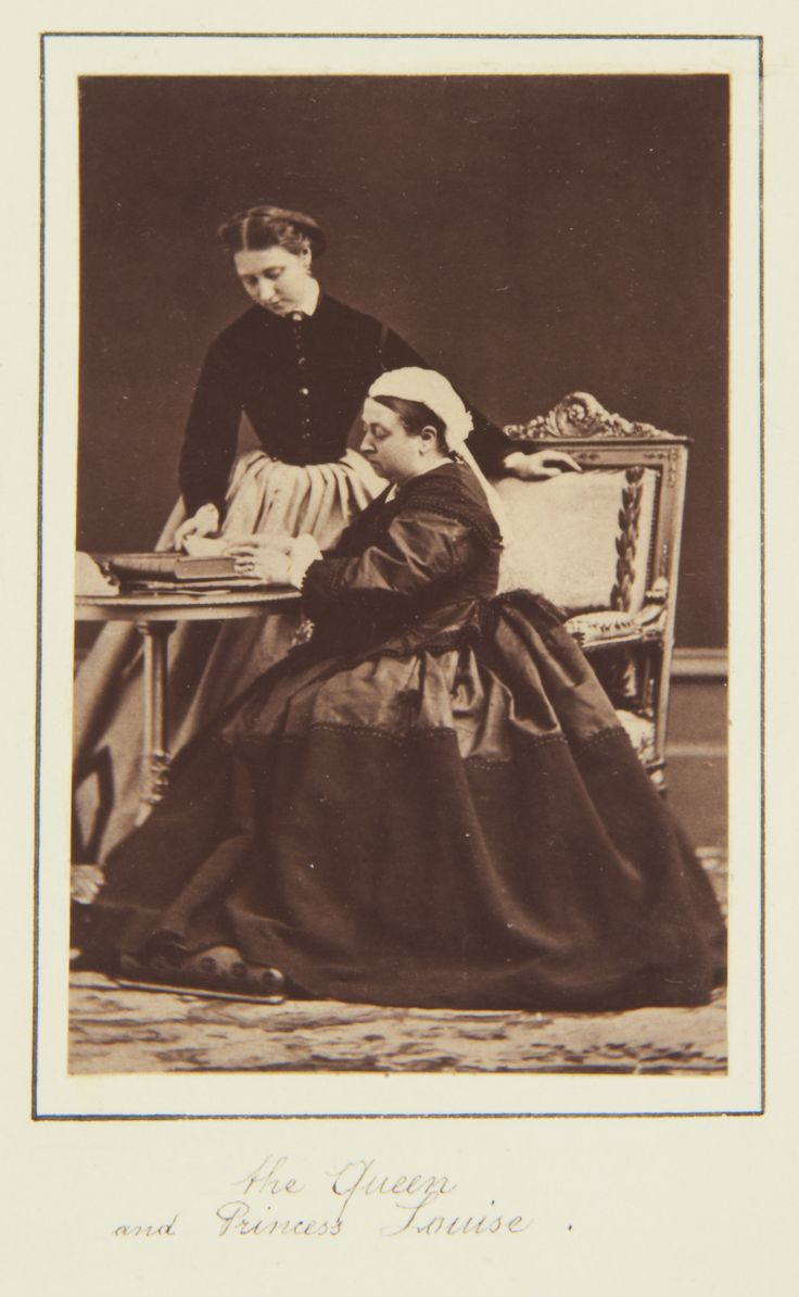 Queen Victoria and Princess Louise, 1866 [in Portraits of Royal Children Vol.10 1866-67] | Royal Collection Trust