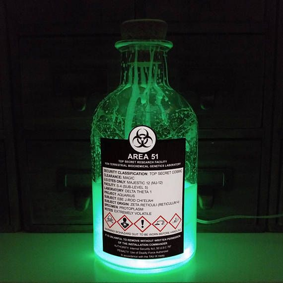 AREA 51 TOP SECRET Majestic 12 Glow In The Dark Biochemical
