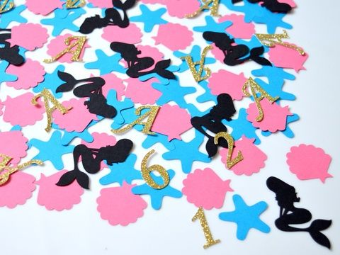 Konfetti parti dekoráció születésnapra keresztelőre babazsúrra scrapbook asztalidísz kagyló csillag rózsaszín (kreativpercek) - Meska.hu