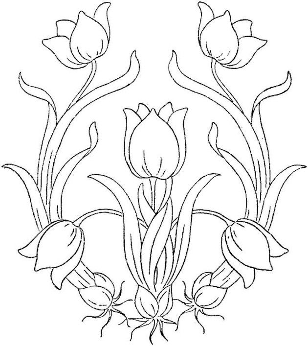 flower pot flower coloring page