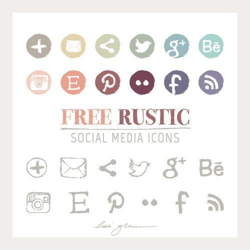 Free Social Media Icons By Lisa Glanz