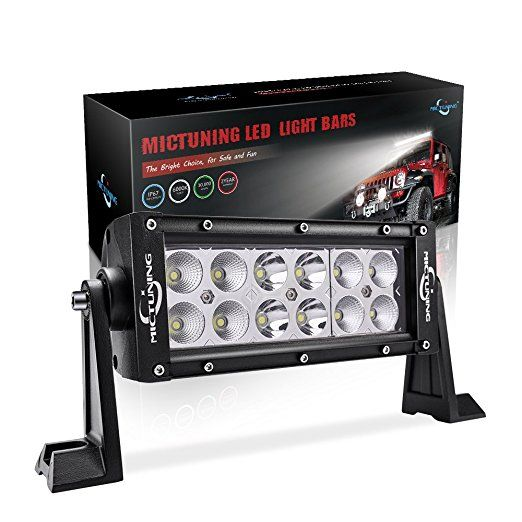 "MICTUNING MIC-BC236 7.5"" Inch 36W COMBO spot/flood beam LED Lights Bar - 2500 Lumen for 4×4 Off Road Polaris Razor ATV SUV UTV Jeep, led light bar truck, led flashing light bar, 20 inch led light bar, led spot light, 32inch led light bar, 42"" led light bar, spot led light, 22"" led light bar, led bar light for trucks,cree led light bar,cree led light bar 240w,curved led light bar,offroad led light bar,offroad led light bar for trucks,led light bar uk,led light bar australia"