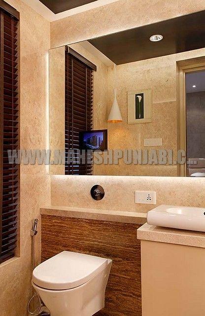 sensor lights below mirror maheshpunjabiassociates interiordesign interiorupdates mumbai