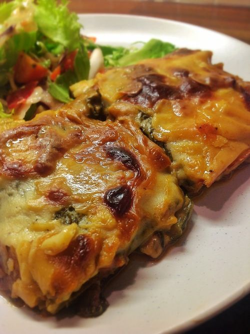 Cabbage, Mushroom and Spinach Lasagne ~ Pasta Free