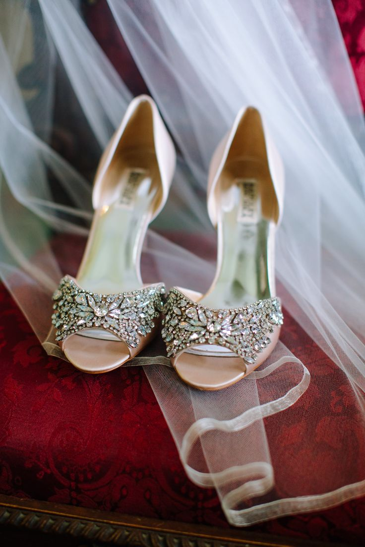 Silver Bridal Shoes at Riverwood Mansion in Nashville Tennessee;